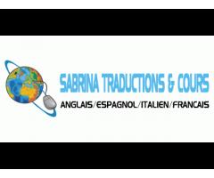 Traduction Anglais, Espagnol, Italien et français