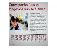 Cours particuliers et stage de remise à niveau - Nancy (54100)