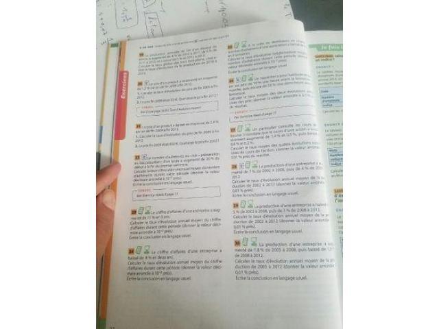 Cours de math, physique et science