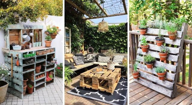Comment aménager son jardin avec des palettes en bois ?